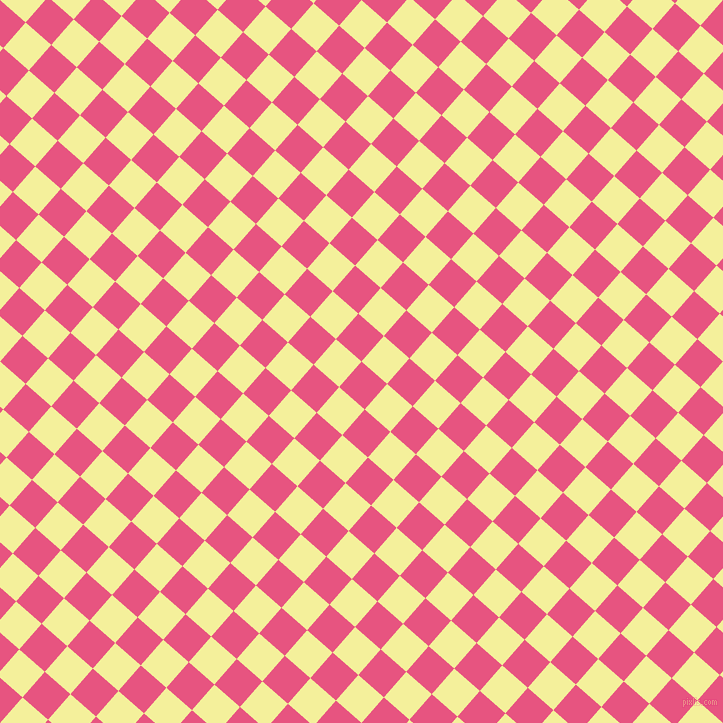 49/139 degree angle diagonal checkered chequered squares checker pattern checkers background, 34 pixel squares size, , Dark Pink and Portafino checkers chequered checkered squares seamless tileable