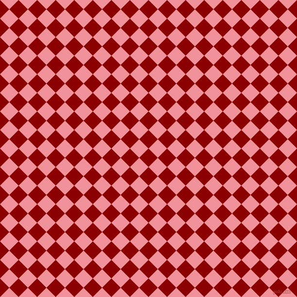 45/135 degree angle diagonal checkered chequered squares checker pattern checkers background, 27 pixel squares size, , Dark Red and Wewak checkers chequered checkered squares seamless tileable