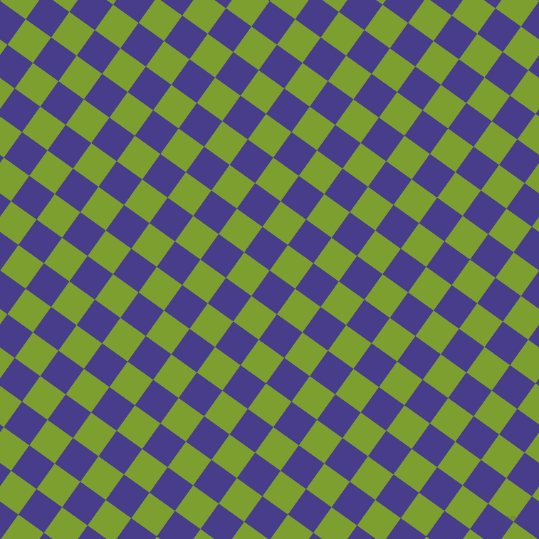 54/144 degree angle diagonal checkered chequered squares checker pattern checkers background, 44 pixel squares size, , Dark Slate Blue and Sushi checkers chequered checkered squares seamless tileable