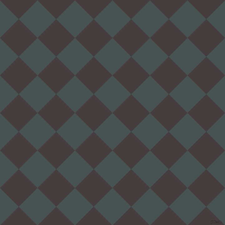 45/135 degree angle diagonal checkered chequered squares checker pattern checkers background, 85 pixel squares size, , Dark Slate and Jon checkers chequered checkered squares seamless tileable