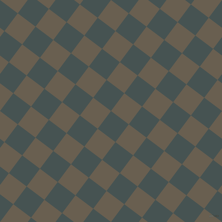 53/143 degree angle diagonal checkered chequered squares checker pattern checkers background, 84 pixel squares size, , Dark Slate and Makara checkers chequered checkered squares seamless tileable