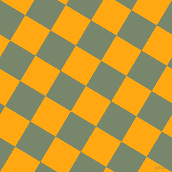 59/149 degree angle diagonal checkered chequered squares checker pattern checkers background, 101 pixel squares size, Dark Tangerine and Camouflage Green checkers chequered checkered squares seamless tileable
