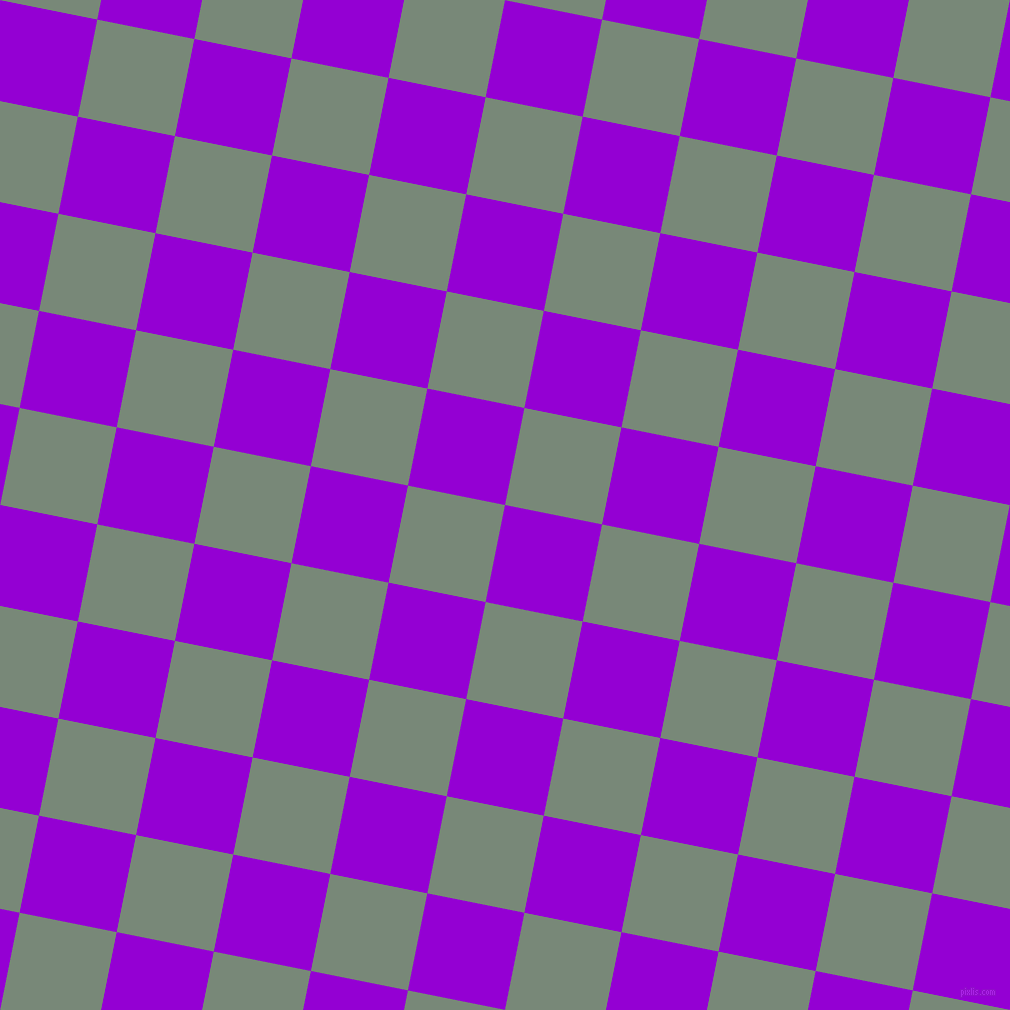 79/169 degree angle diagonal checkered chequered squares checker pattern checkers background, 99 pixel squares size, , Dark Violet and Davy