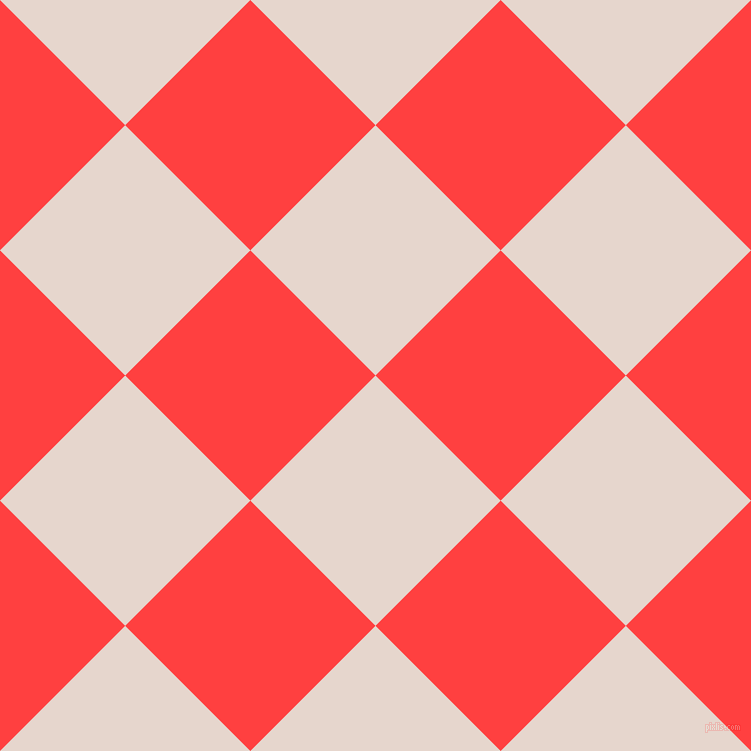 45/135 degree angle diagonal checkered chequered squares checker pattern checkers background, 177 pixel square size, , Dawn Pink and Coral Red checkers chequered checkered squares seamless tileable
