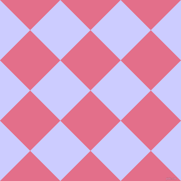 45/135 degree angle diagonal checkered chequered squares checker pattern checkers background, 144 pixel squares size, , Deep Blush and Lavender Blue checkers chequered checkered squares seamless tileable