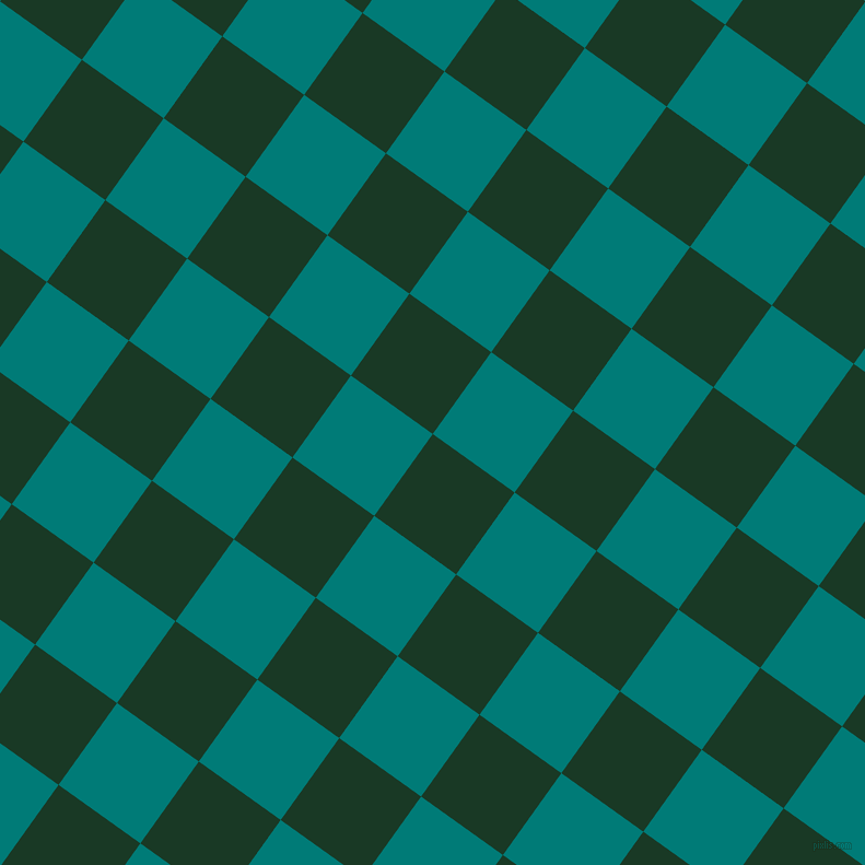 54/144 degree angle diagonal checkered chequered squares checker pattern checkers background, 92 pixel square size, , Deep Fir and Surfie Green checkers chequered checkered squares seamless tileable