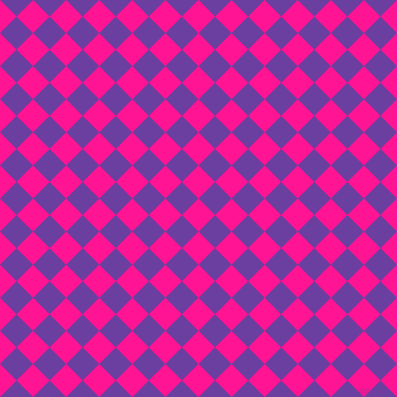 45/135 degree angle diagonal checkered chequered squares checker pattern checkers background, 34 pixel square size, , Deep Pink and Royal Purple checkers chequered checkered squares seamless tileable