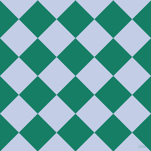 45/135 degree angle diagonal checkered chequered squares checker pattern checkers background, 89 pixel squares size, , Deep Sea and Periwinkle checkers chequered checkered squares seamless tileable