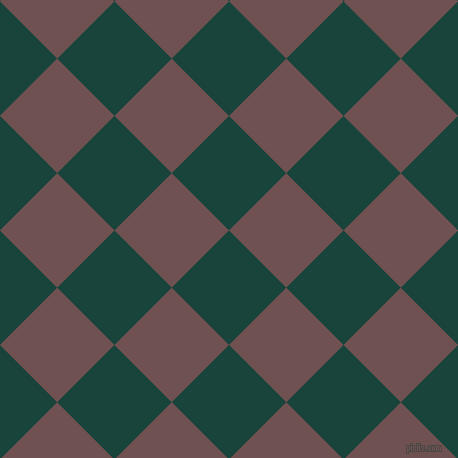 45/135 degree angle diagonal checkered chequered squares checker pattern checkers background, 81 pixel square size, , Deep Teal and Buccaneer checkers chequered checkered squares seamless tileable