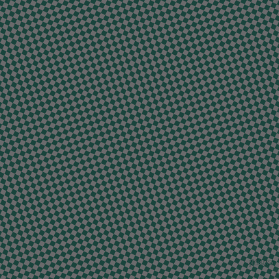 63/153 degree angle diagonal checkered chequered squares checker pattern checkers background, 7 pixel square size, Deep Teal and Scarpa Flow checkers chequered checkered squares seamless tileable