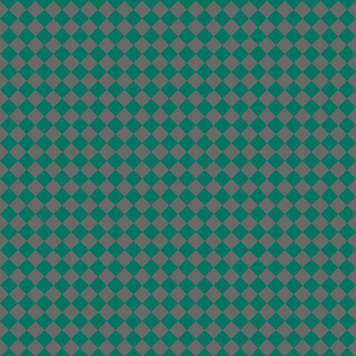 45/135 degree angle diagonal checkered chequered squares checker pattern checkers background, 25 pixel square size, , Dim Gray and Tropical Rain Forest checkers chequered checkered squares seamless tileable