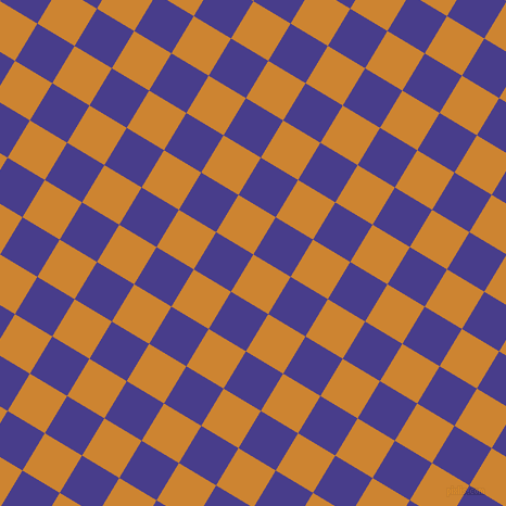59/149 degree angle diagonal checkered chequered squares checker pattern checkers background, 40 pixel squares size, Dixie and Dark Slate Blue checkers chequered checkered squares seamless tileable