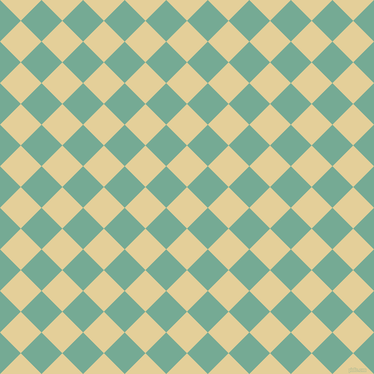 45/135 degree angle diagonal checkered chequered squares checker pattern checkers background, 59 pixel square size, , Double Colonial White and Acapulco checkers chequered checkered squares seamless tileable