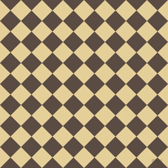 45/135 degree angle diagonal checkered chequered squares checker pattern checkers background, 51 pixel squares size, , Double Colonial White and Cork checkers chequered checkered squares seamless tileable
