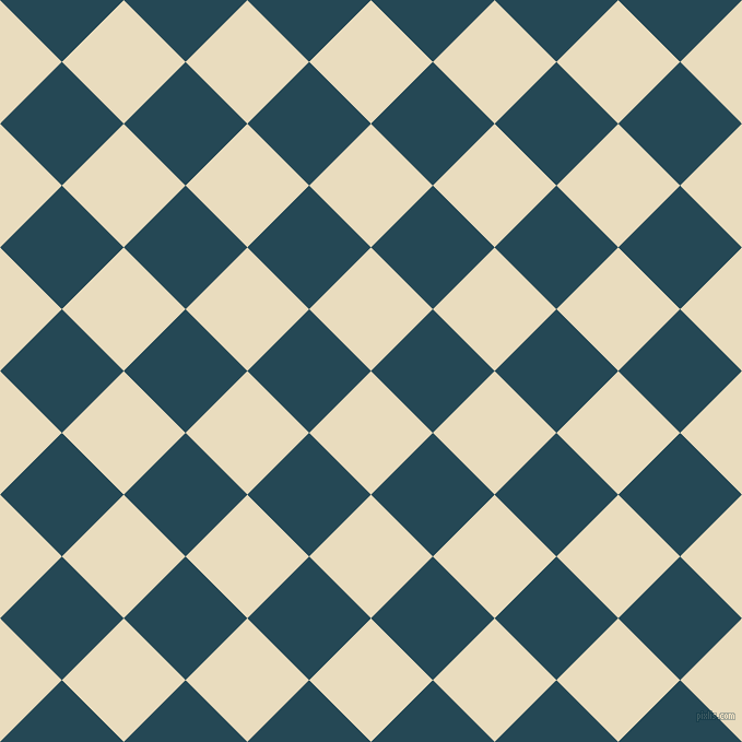 45/135 degree angle diagonal checkered chequered squares checker pattern checkers background, 80 pixel square size, , Double Pearl Lusta and Teal Blue checkers chequered checkered squares seamless tileable