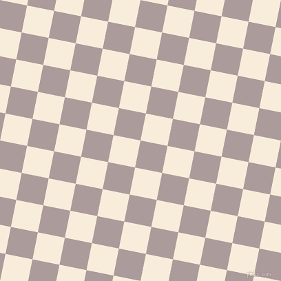 79/169 degree angle diagonal checkered chequered squares checker pattern checkers background, 40 pixel squares size, , Dusty Grey and Island Spice checkers chequered checkered squares seamless tileable