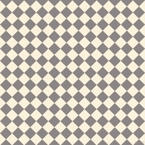 45/135 degree angle diagonal checkered chequered squares checker pattern checkers background, 33 pixel square size, , Early Dawn and Suva Grey checkers chequered checkered squares seamless tileable