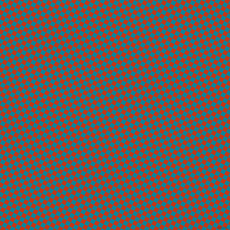 63/153 degree angle diagonal checkered chequered squares checker pattern checkers background, 15 pixel squares size, , Eastern Blue and Harley Davidson Orange checkers chequered checkered squares seamless tileable