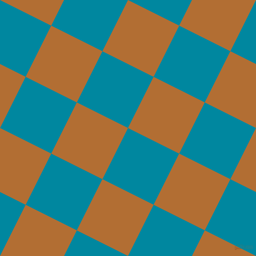 63/153 degree angle diagonal checkered chequered squares checker pattern checkers background, 114 pixel square size, , Eastern Blue and Reno Sand checkers chequered checkered squares seamless tileable