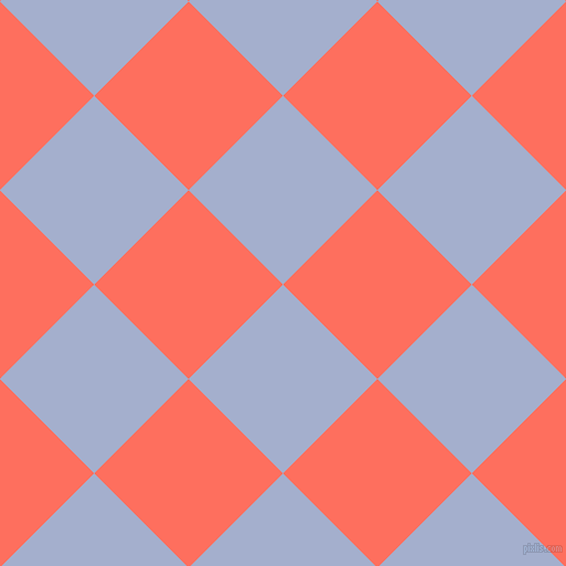 45/135 degree angle diagonal checkered chequered squares checker pattern checkers background, 121 pixel squares size, , Echo Blue and Bittersweet checkers chequered checkered squares seamless tileable