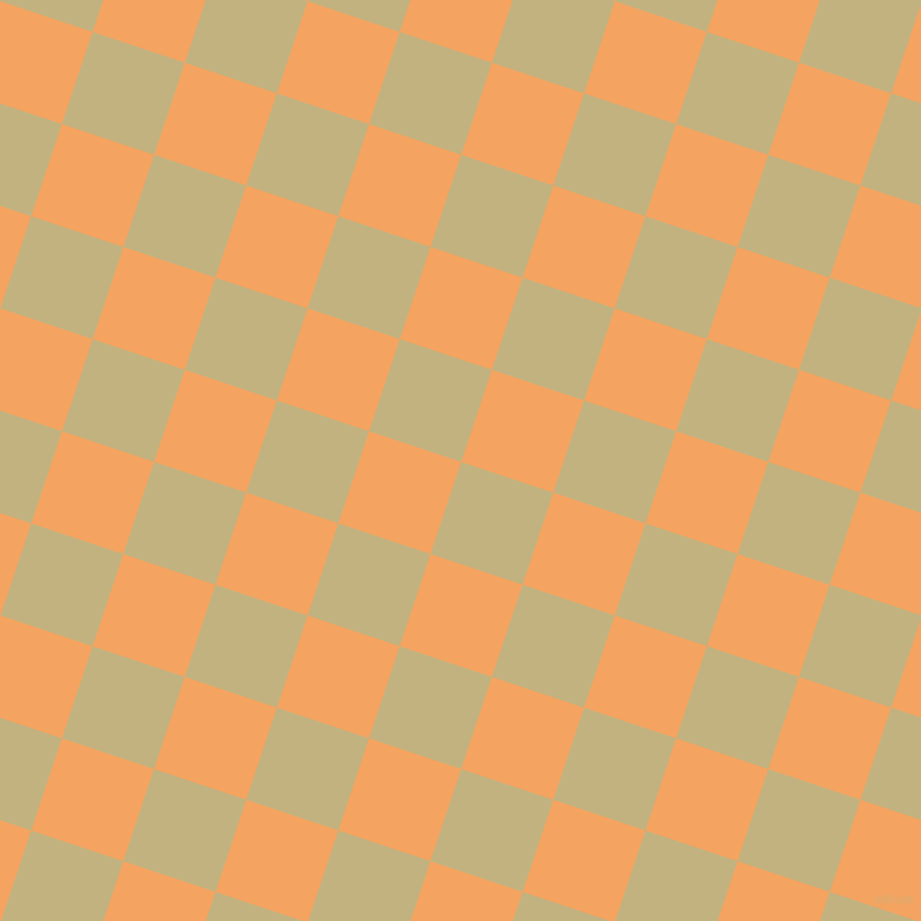 72/162 degree angle diagonal checkered chequered squares checker pattern checkers background, 89 pixel square size, , Ecru and Sandy Brown checkers chequered checkered squares seamless tileable
