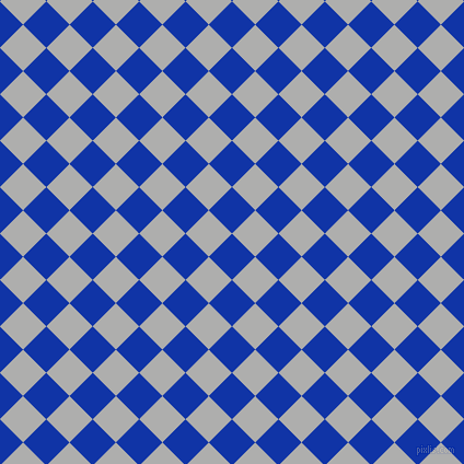 45/135 degree angle diagonal checkered chequered squares checker pattern checkers background, 30 pixel squares size, , Egyptian Blue and Bombay checkers chequered checkered squares seamless tileable