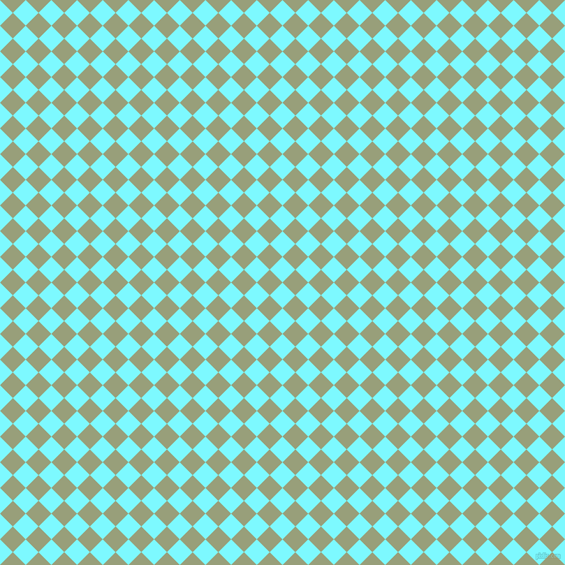 45/135 degree angle diagonal checkered chequered squares checker pattern checkers background, 26 pixel square size, , Electric Blue and Sage checkers chequered checkered squares seamless tileable