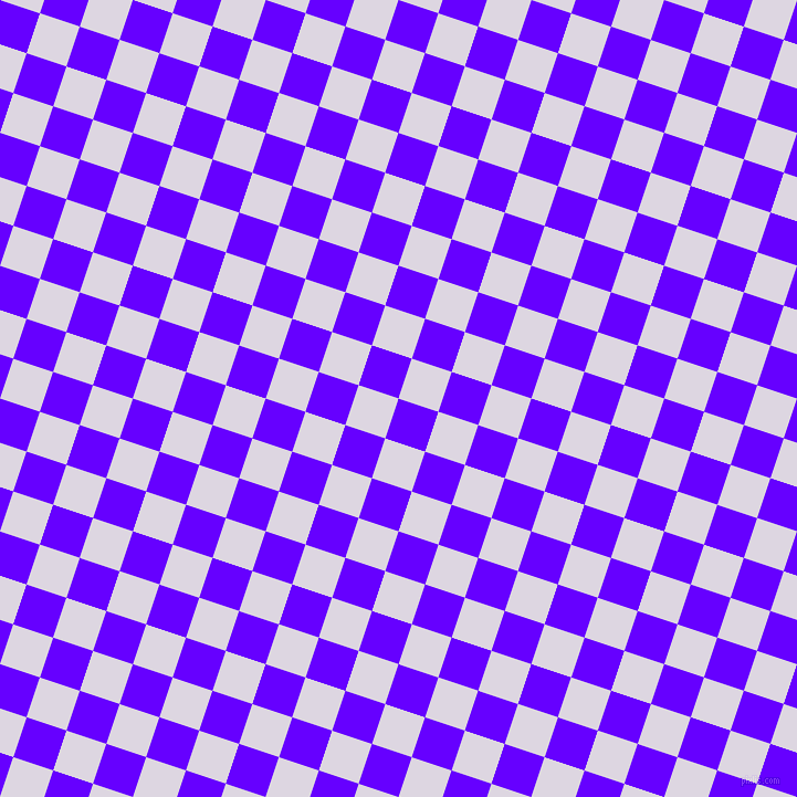 72/162 degree angle diagonal checkered chequered squares checker pattern checkers background, 38 pixel squares size, , Electric Indigo and Titan White checkers chequered checkered squares seamless tileable