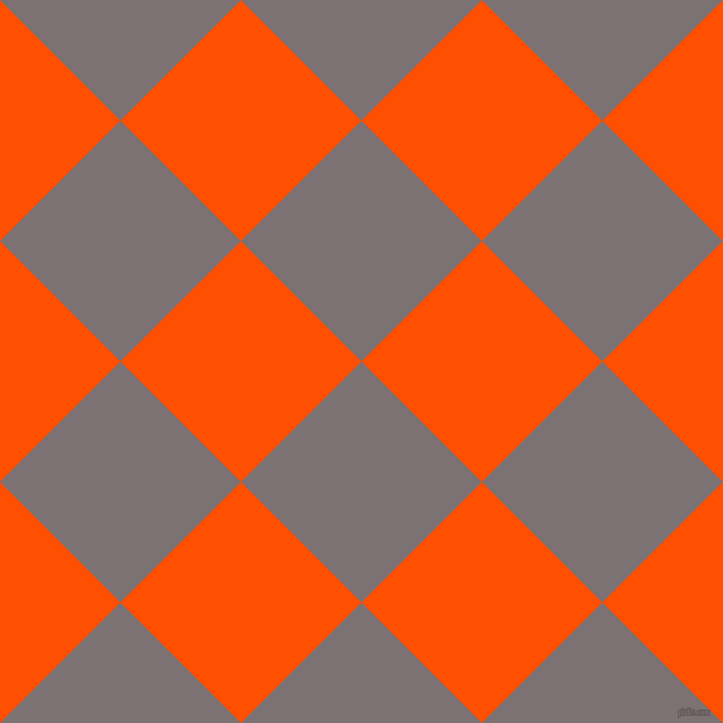 45/135 degree angle diagonal checkered chequered squares checker pattern checkers background, 189 pixel squares size, , Empress and International Orange checkers chequered checkered squares seamless tileable