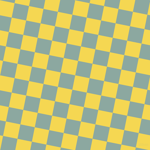 79/169 degree angle diagonal checkered chequered squares checker pattern checkers background, 57 pixel square size, , Energy Yellow and Cascade checkers chequered checkered squares seamless tileable