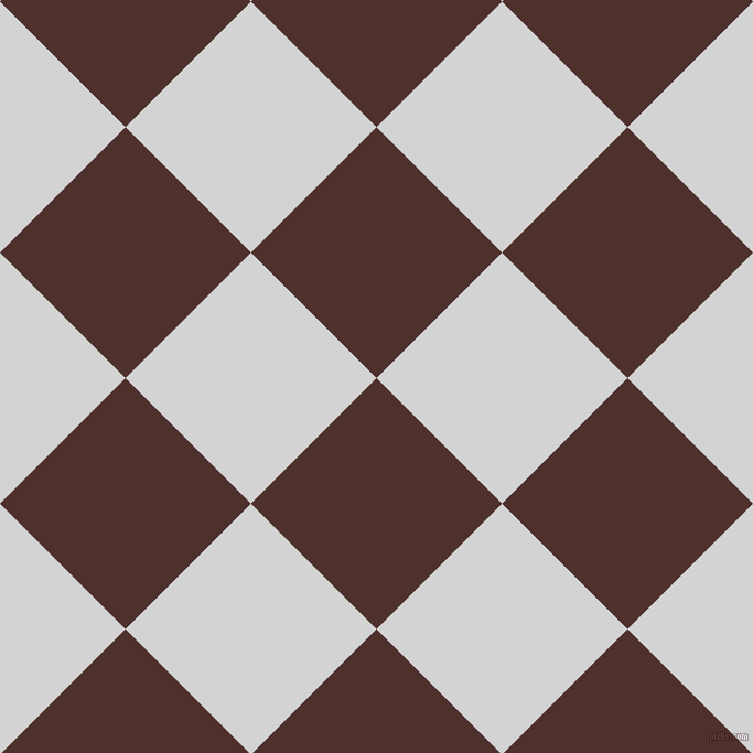 45/135 degree angle diagonal checkered chequered squares checker pattern checkers background, 161 pixel square size, , Espresso and Light Grey checkers chequered checkered squares seamless tileable