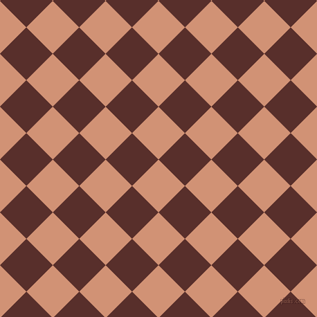 45/135 degree angle diagonal checkered chequered squares checker pattern checkers background, 54 pixel square size, , Feldspar and Moccaccino checkers chequered checkered squares seamless tileable