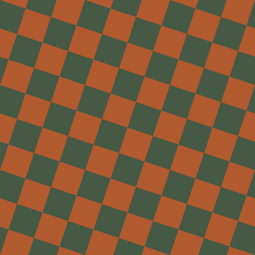 72/162 degree angle diagonal checkered chequered squares checker pattern checkers background, 88 pixel squares size, , Fiery Orange and Grey-Asparagus checkers chequered checkered squares seamless tileable