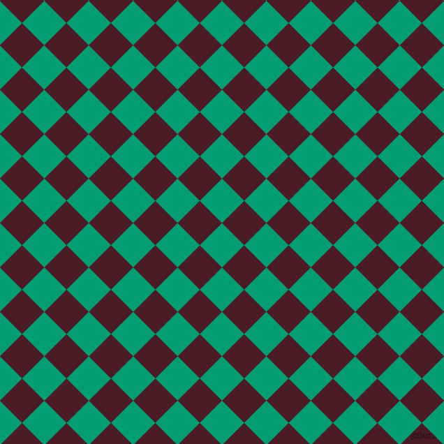 45/135 degree angle diagonal checkered chequered squares checker pattern checkers background, 45 pixel square size, , Free Speech Aquamarine and Bordeaux checkers chequered checkered squares seamless tileable