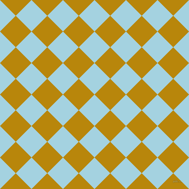 45/135 degree angle diagonal checkered chequered squares checker pattern checkers background, 76 pixel squares size, , French Pass and Dark Goldenrod checkers chequered checkered squares seamless tileable