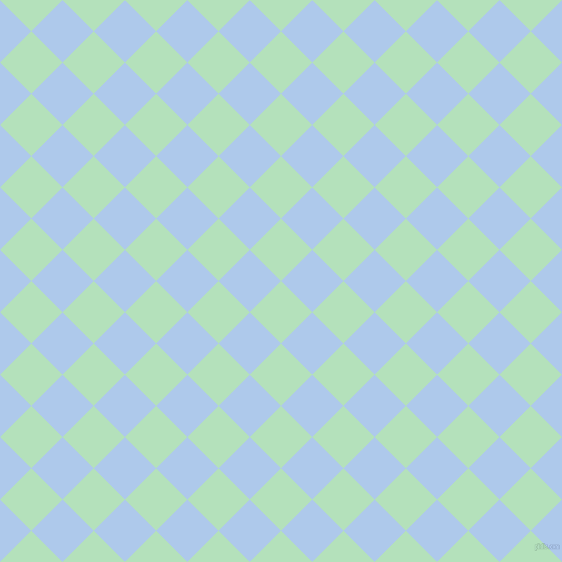 45/135 degree angle diagonal checkered chequered squares checker pattern checkers background, 63 pixel squares size, , Fringy Flower and Tropical Blue checkers chequered checkered squares seamless tileable