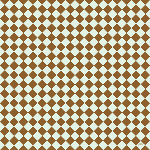 45/135 degree angle diagonal checkered chequered squares checker pattern checkers background, 27 pixel squares size, , Frosted Mint and Rusty Nail checkers chequered checkered squares seamless tileable