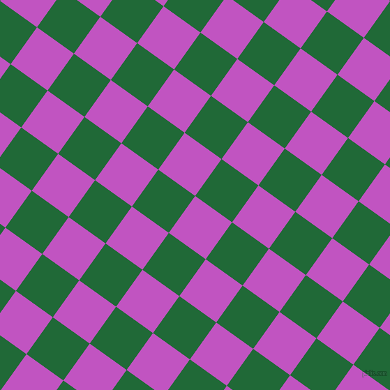 54/144 degree angle diagonal checkered chequered squares checker pattern checkers background, 65 pixel square size, , Fuchsia and Camarone checkers chequered checkered squares seamless tileable