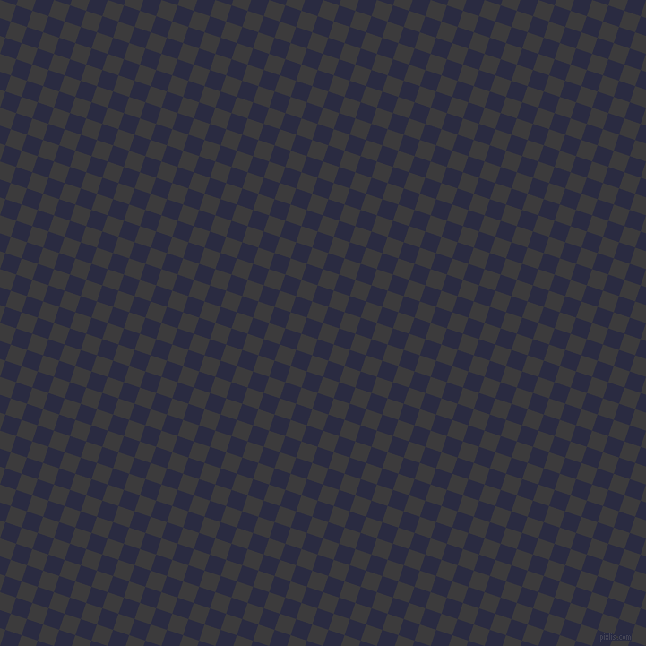 72/162 degree angle diagonal checkered chequered squares checker pattern checkers background, 19 pixel squares size, , Fuscous Grey and Valhalla checkers chequered checkered squares seamless tileable