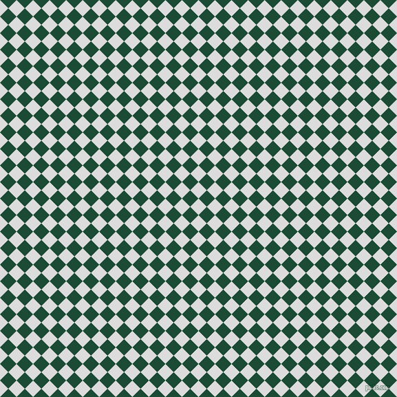 45/135 degree angle diagonal checkered chequered squares checker pattern checkers background, 17 pixel squares size, , Gainsboro and County Green checkers chequered checkered squares seamless tileable