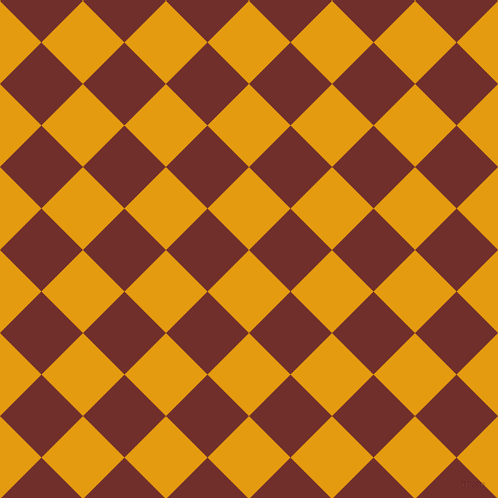 45/135 degree angle diagonal checkered chequered squares checker pattern checkers background, 83 pixel square size, , Gamboge and Auburn checkers chequered checkered squares seamless tileable