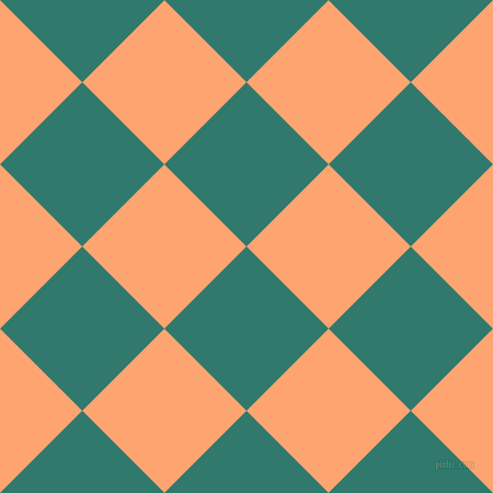 45/135 degree angle diagonal checkered chequered squares checker pattern checkers background, 106 pixel squares size, , Genoa and Hit Pink checkers chequered checkered squares seamless tileable