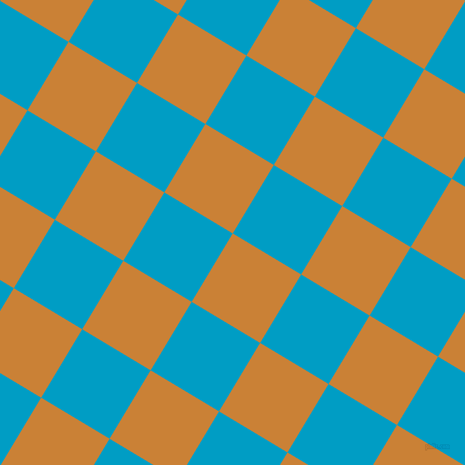 59/149 degree angle diagonal checkered chequered squares checker pattern checkers background, 116 pixel squares size, , Golden Bell and Pacific Blue checkers chequered checkered squares seamless tileable