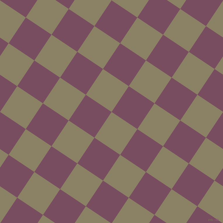 56/146 degree angle diagonal checkered chequered squares checker pattern checkers background, 106 pixel square size, , Granite Green and Cosmic checkers chequered checkered squares seamless tileable