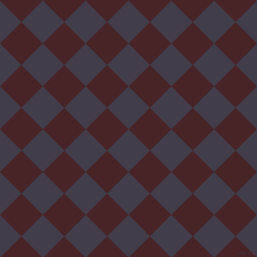 45/135 degree angle diagonal checkered chequered squares checker pattern checkers background, 62 pixel squares size, , Grape and Bulgarian Rose checkers chequered checkered squares seamless tileable