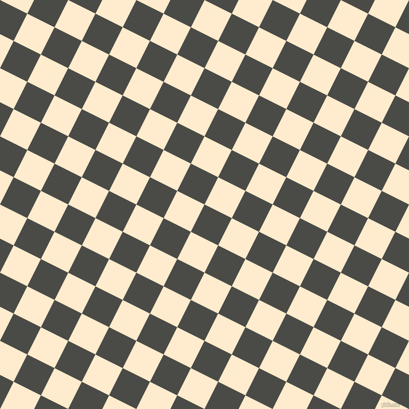 63/153 degree angle diagonal checkered chequered squares checker pattern checkers background, 60 pixel squares size, , Gravel and Blanched Almond checkers chequered checkered squares seamless tileable