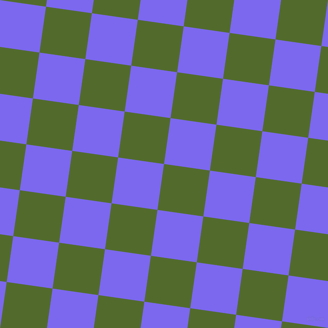 82/172 degree angle diagonal checkered chequered squares checker pattern checkers background, 92 pixel square size, , Green Leaf and Medium Slate Blue checkers chequered checkered squares seamless tileable