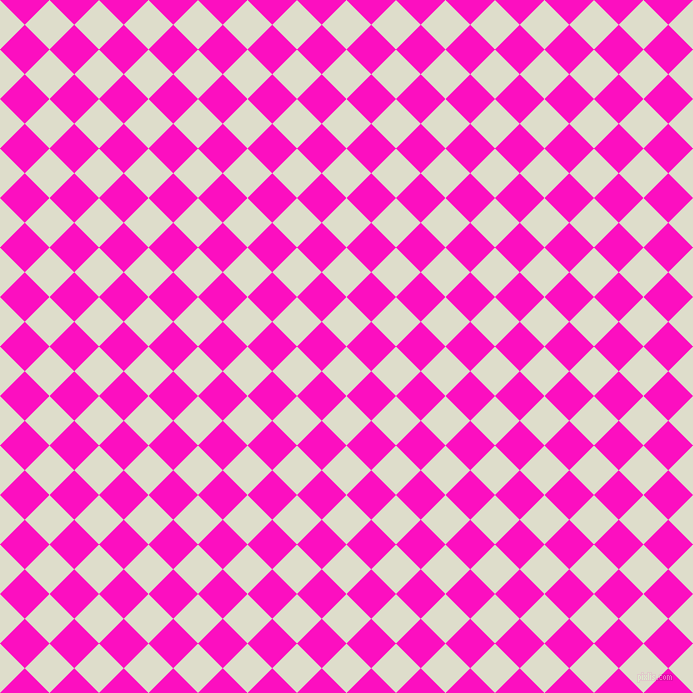45/135 degree angle diagonal checkered chequered squares checker pattern checkers background, 35 pixel squares size, Green White and Shocking Pink checkers chequered checkered squares seamless tileable