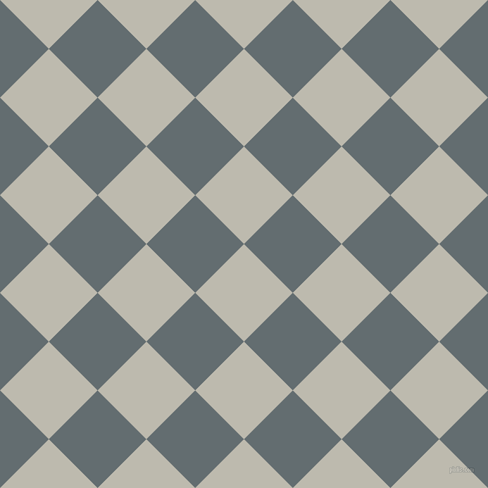 45/135 degree angle diagonal checkered chequered squares checker pattern checkers background, 98 pixel square size, , Grey Nickel and Pale Sky checkers chequered checkered squares seamless tileable