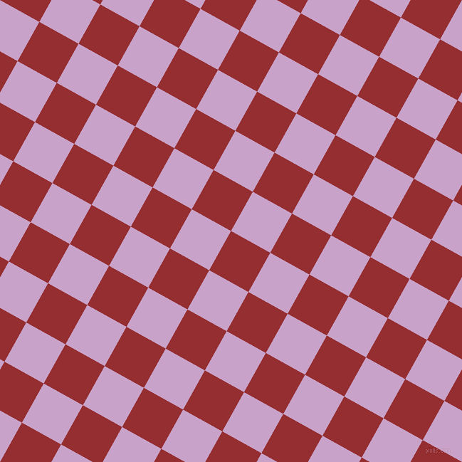 61/151 degree angle diagonal checkered chequered squares checker pattern checkers background, 63 pixel square size, , Guardsman Red and Lilac checkers chequered checkered squares seamless tileable